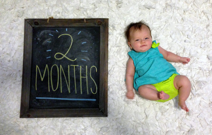 Hannah at two months