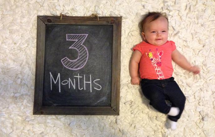 Hannah at 3 months