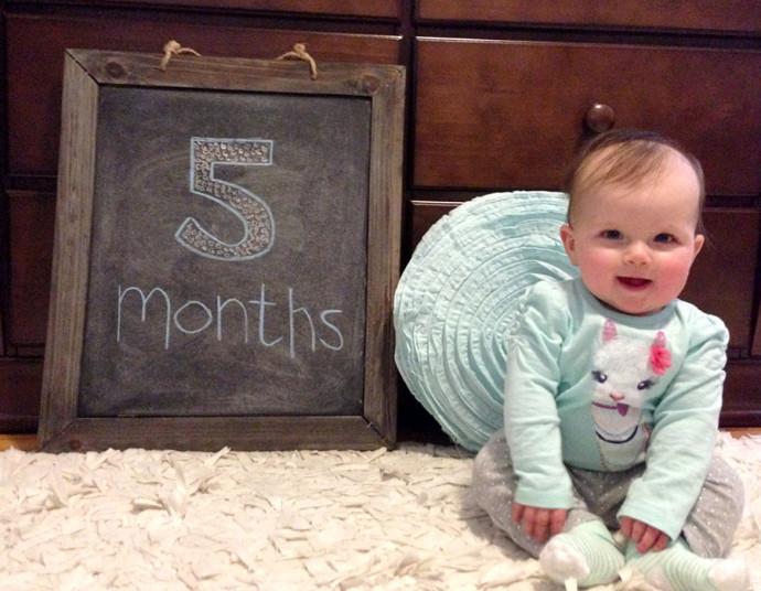 Hannah at 5 months