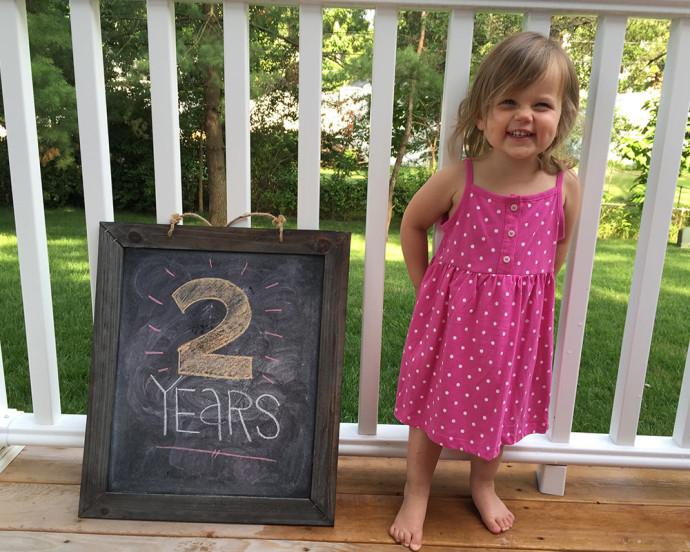 Hannah at 2 years old