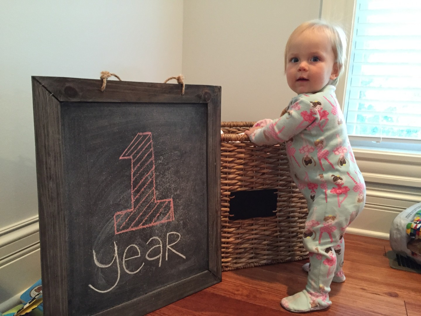 Campbell on her first birthday